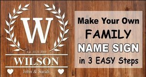 Family Name Signs.
