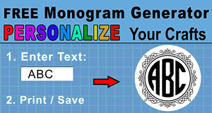 photo about Printable Monogram Maker named On the net Monogram Producer (Obtain within just SVG Structure)