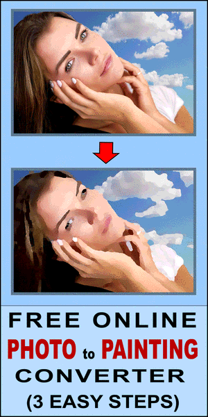 Free online tool that converts a photo to a painting, picture into a painting, create an oil painting effect on canvas with this converter software.