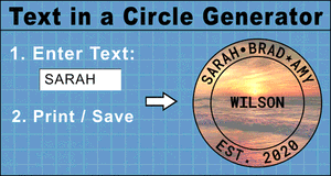 Text In Circle Generator.