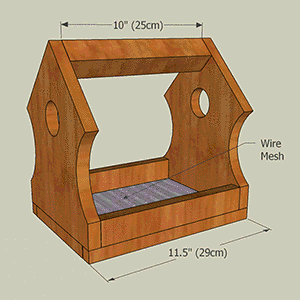 Homemade wooden bird feeder plans