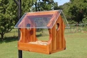 Free wooden bird feeder plans