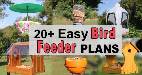 DIY Bird Feeders (How To Make Easy Homemade, Recycled Bird Feeders)