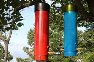 Finished PVC bird feeder.
