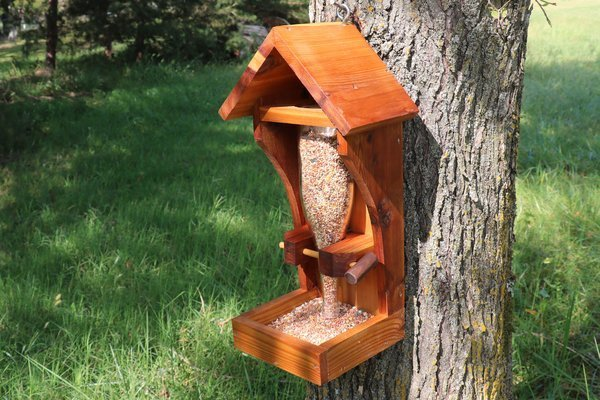 DIY Glass Bottle Bird Feeder