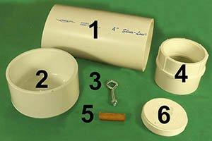 Materials needed to build Bird House Design PLANS (DIY PVC Hanging Bird Box).