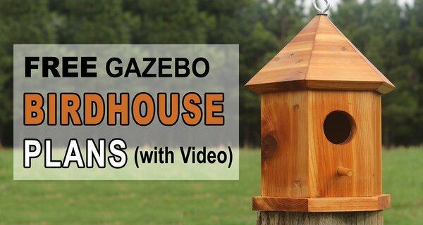 Bird House Plans Gazebo (DIY Nesting Box for Bluebirds & Wrens)