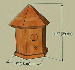 Bird house plans gazebo measurements.