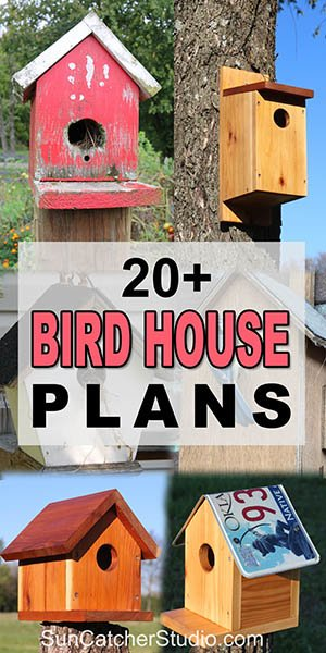 Collection of free, simple, easy to build birdhouse plans.
