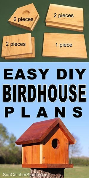 Birdhouse Plans Easy One Board Diy Project