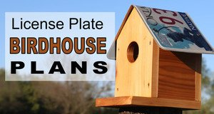 License Plate Bird House Plans.