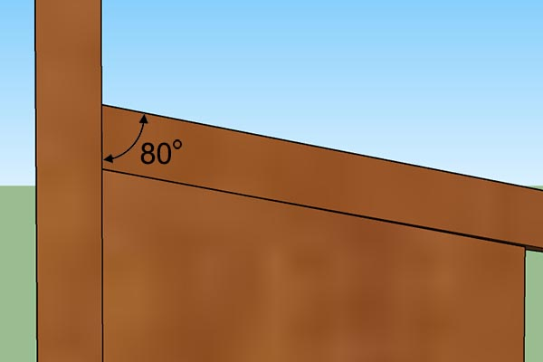 Optionally, cut roof panel at angle for a better fit.