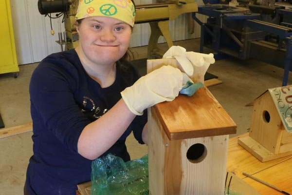 Paint or apply a finish to your birdhouse.