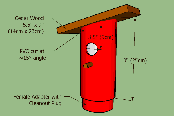 Blue Bird Nest Box (Bird house) Dimensions