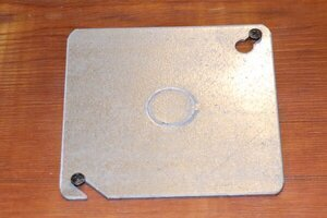 Electrical box flat cover.