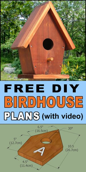 Free birdhouse plans to Purple martin house plans.  Free printable DIY directions to make a wooden handmade or homemade bird nesting box.