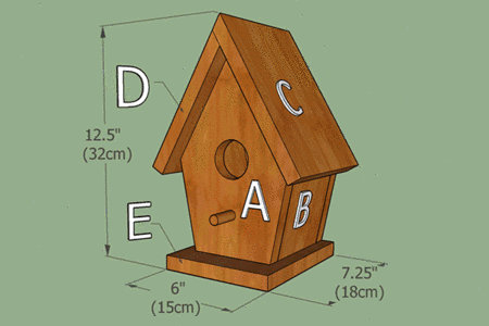 free birdhouse plans complete labeled