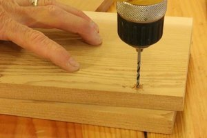 Pre-drill holes for screws in bird box.