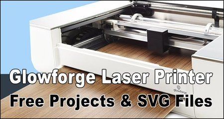 Glowforge laser printer cutting machines, designs, SVG files, patterns, vector graphics, wood, woodworking projects.