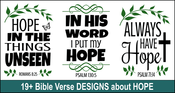 Bible Verse Designs on Hope: SVG Files & Cricut Design