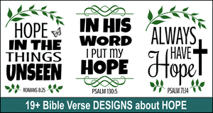 Bible quote designs on Hope