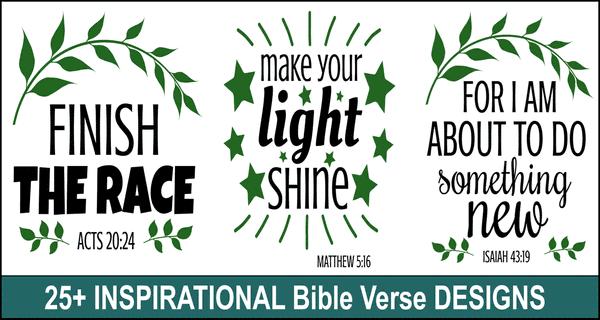 Inspirational Bible Quote Designs: Scripture Verses & SVG Files