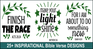 Inspirational Bible quote designs
