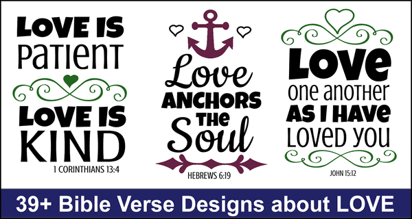 Bible Verses About LOVE: Free Bundle of SVG Cutting Files & Designs
