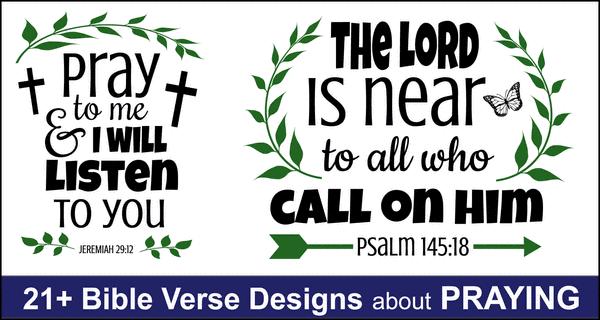 Bible Verses About Praying: Free Bundle of SVG Files and Designs