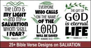 Bible verse designs on Salvation