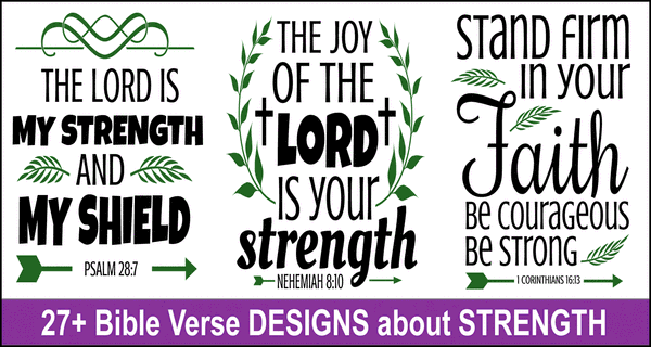 Bible Verses about Strength: Free SVG Files and Cricut Designs