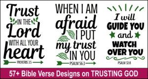 Bible quote designs on Trusting God