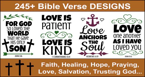 Bible Verses (Scripture Passages) Designs: Free Bundle of SVG files