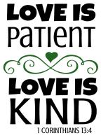 1 Corinthians 13:4 Love is patient love is kind, bible verses, scripture verses, svg files, passages, sayings, cricut designs, silhouette, embroidery, bundle, free cut files, design space, vector.