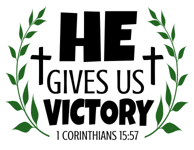 1 Corinthians 15:57 He gives us victory, bible verses, scripture verses, svg files, passages, sayings, cricut designs, silhouette, embroidery, bundle, free cut files, design space, vector.