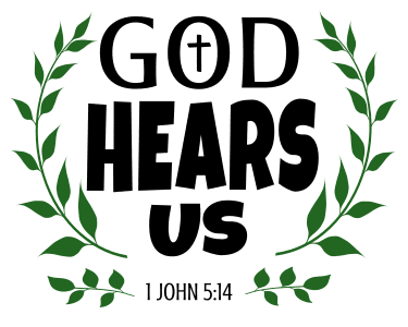 1 John 5:14 He hears us, bible verses, scripture verses, svg files, passages, sayings, cricut designs, silhouette, embroidery, bundle, free cut files, design space, vector.