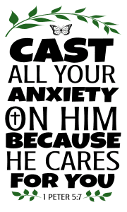 1 Peter 5:7 Cast all your anxiety on him because he cares for you, bible verses, scripture verses, svg files, passages, sayings, cricut designs, silhouette, embroidery, bundle, free cut files, design space, vector.