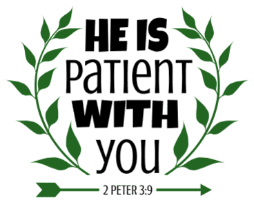 2 Peter 3:9 He is patient with you, bible verses, scripture verses, svg files, passages, sayings, cricut designs, silhouette, embroidery, bundle, free cut files, design space, vector.