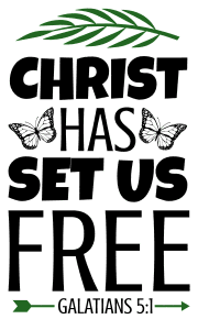 Galatians 5:1 Christ has set us free, bible verses, scripture verses, svg files, passages, sayings, cricut designs, silhouette, embroidery, bundle, free cut files, design space, vector.
