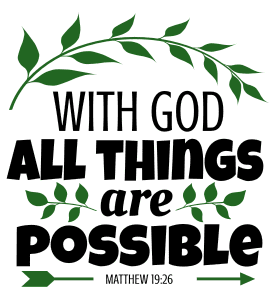 Matthew 19:26 With God all things are possible, bible verses, scripture verses, svg files, passages, sayings, cricut designs, silhouette, embroidery, bundle, free cut files, design space, vector.
