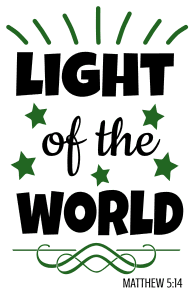 Matthew 5:14 Light of the world, bible verses, scripture verses, svg files, passages, sayings, cricut designs, silhouette, embroidery, bundle, free cut files, design space, vector.