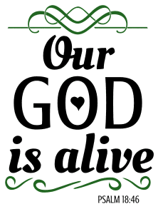 Psalm 18:46 Our God is alive, bible verses, scripture verses, svg files, passages, sayings, cricut designs, silhouette, embroidery, bundle, free cut files, design space, vector.