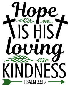 Psalm 33:18 Hope is his loving kindness, bible verses, scripture verses, svg files, passages, sayings, cricut designs, silhouette, embroidery, bundle, free cut files, design space, vector.