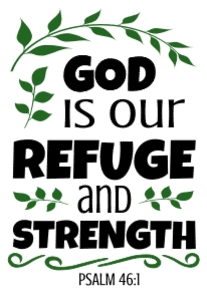 Psalm 46:1 God is our refuge and strength, bible verses, scripture verses, svg files, passages, sayings, cricut designs, silhouette, embroidery, bundle, free cut files, design space, vector.