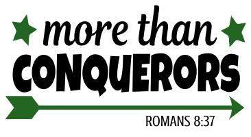 Romans 8:37 More than conquerors, bible verses, scripture verses, svg files, passages, sayings, cricut designs, silhouette, embroidery, bundle, free cut files, design space, vector.