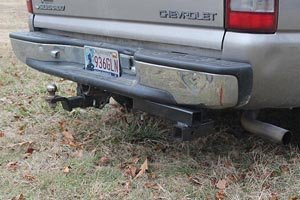 Receiver hitch on truck.