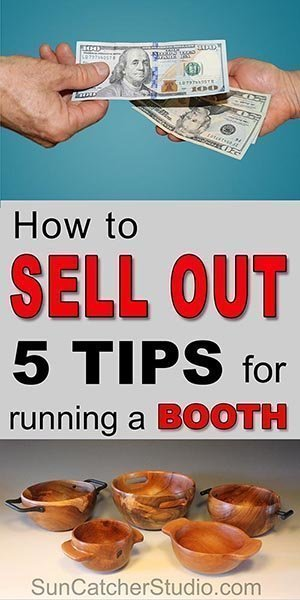 TIPS for selling homemade pieces at art and craft festivals, flea markets, craft show, in booths, and online.
