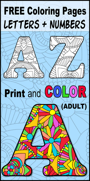 Free printable abc coloring pages, alphabet letters to print and color for preschool, kids, and adults, DIY hobby.