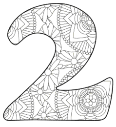 Free printable 2 - coloring stencil.abc alphabet colouring coloring letter coloring sheet with pattern for kids and adults stencil, thick pattern typeface bold download svg, png, pdf, jpg pattern.