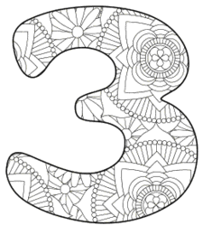 Free printable 3 - coloring stencil.abc alphabet colouring coloring letter coloring sheet with pattern for kids and adults stencil, thick pattern typeface bold download svg, png, pdf, jpg pattern.